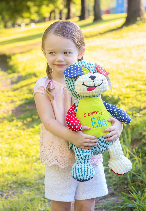 Personalised Dog Teddy Sensory Toy