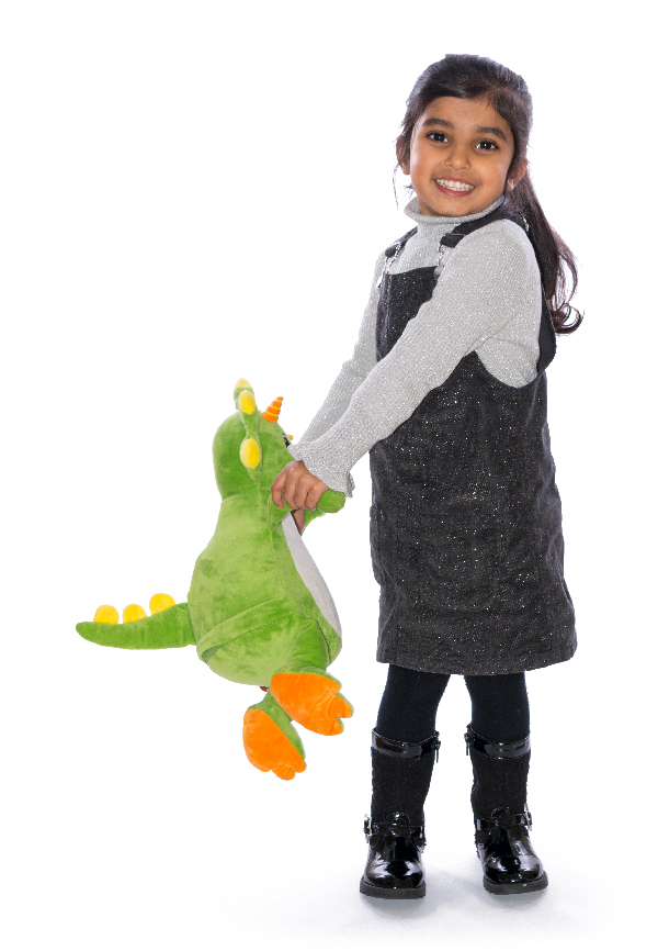 Personalised Green Dinosaur Toy Cubby Teddy