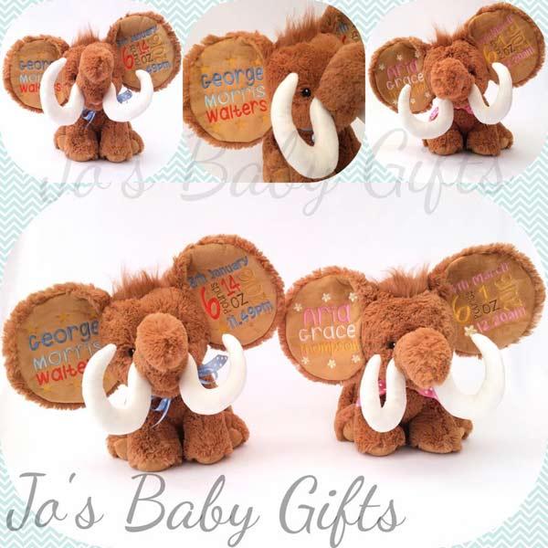 Personalised Mammoth Teddy Bear