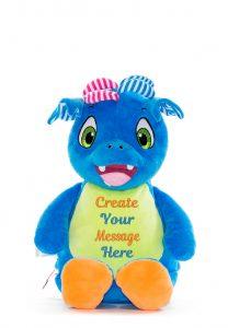 Personalised Soft Sensory Dragon Teddy Cubby