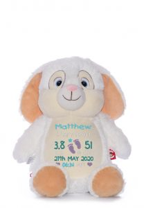 Personalised white Bunny Teddy Toy