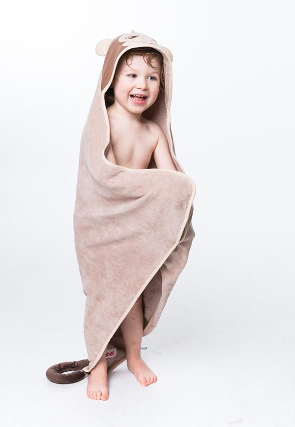 Personalised Monkey Hooded Towel