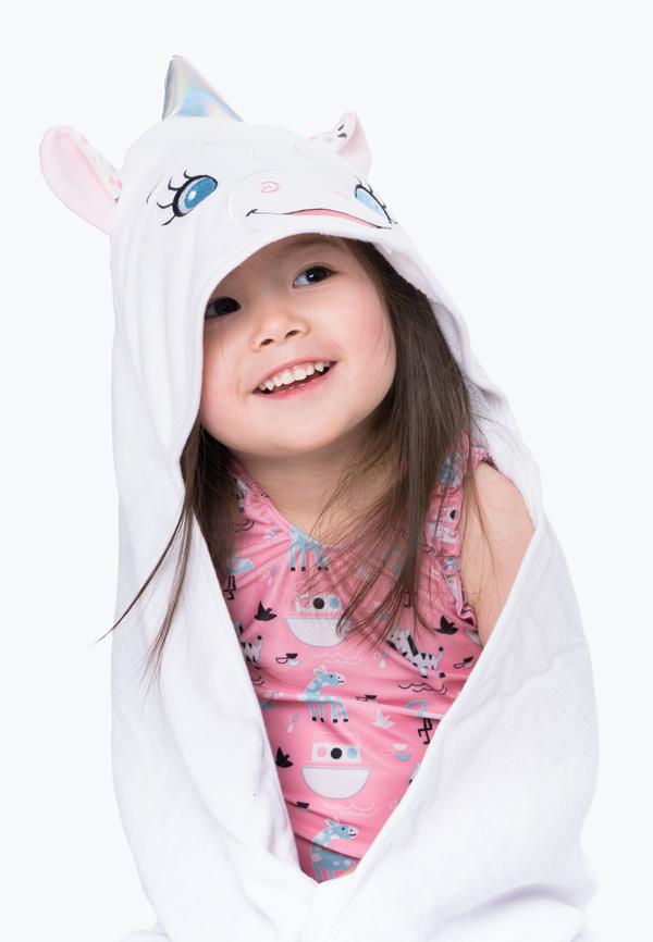 Personalised Unicorn Hooded Towel